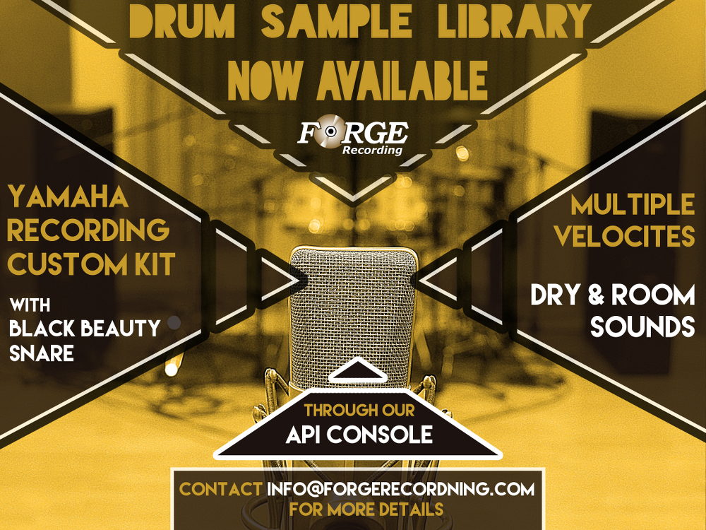 Drum Sample Library, Yamaha Custom Kit | Forge Recording
